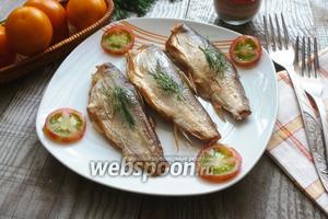 Рыба сырок (пелядь), копчёная в сковороде