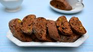 Фото рецепта Шоколадные кантуччини с фисташками