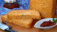 Фото рецепта Хлеб с вялеными помидорами и базиликом в хлебопечке