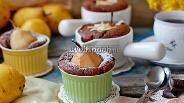 Фото рецепта Шоколадные кексы с грушей
