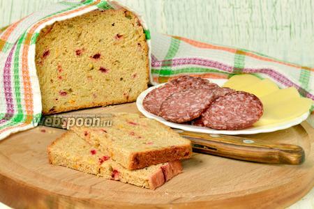 Хлеб из полбяной муки с сушёной свёклой и тыквой