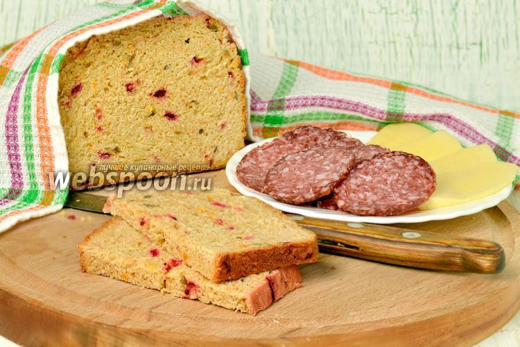 Фото Хлеб из полбяной муки с сушёной свёклой и тыквой