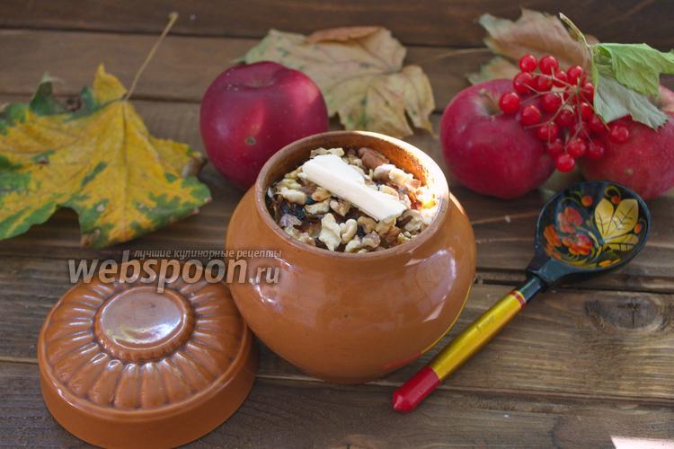 Фото Пшённая каша с яблоком в горшочках