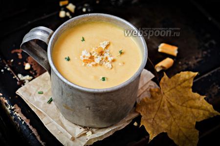 Суп-пюре из запечённой тыквы