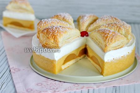 Торт «Яблочное суфле с мармеладом»