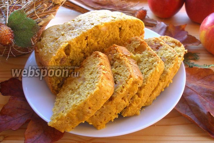 Фото Овсяный кекс с яблоками в хлебопечке