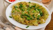 Фото рецепта Картофельная галета с луком-пореем