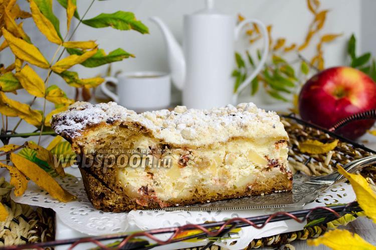 Фото Яблочный пирог с йогуртом