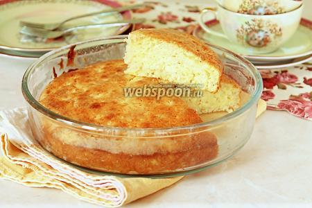 Сметанный пирог с тёртыми яблоками
