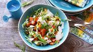 Фото рецепта Салат из маринованной тыквы со сладким перцем
