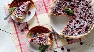 Фото рецепта Вишнёвый пирог с пудингом