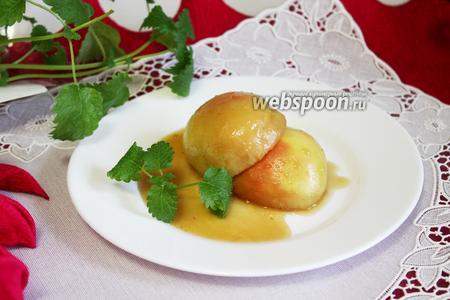 Яблоки в «пьяной» карамели