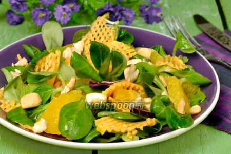 Салат с тыквой и апельсинами