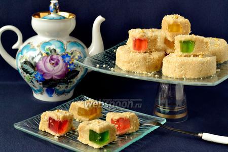 Пирожные без выпечки с мармеладом