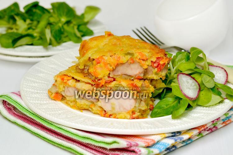 Фото Запеканка с молоками лосося и овощами