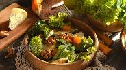 Фото рецепта Салат с запечённой тыквой, рукколой и орехами