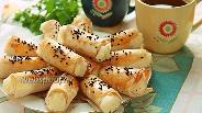 Фото рецепта Слоёные трубочки из лаваша с картофельным пюре