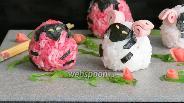 Фото рецепта Онигири овечки