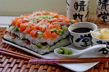 Суши торт