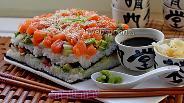 Фото рецепта Суши торт