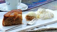 Фото рецепта Перевёрнутый айвовый пирог