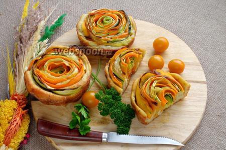 Кексы с овощными спиральками
