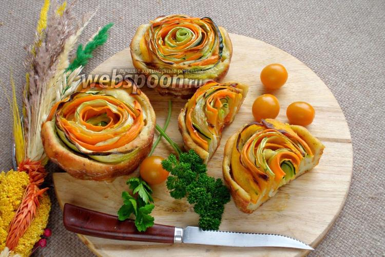 Фото Кексы с овощными спиральками