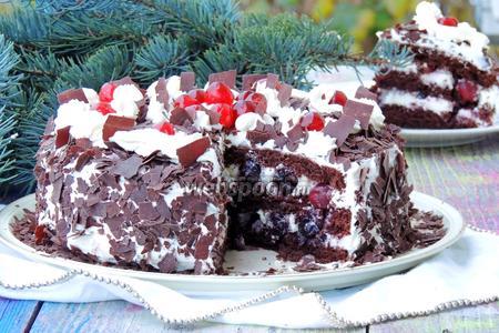 Торт вишнёвый или шварцвэлдер киршторте