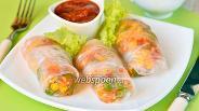 Фото рецепта Спринг-роллы с овощами