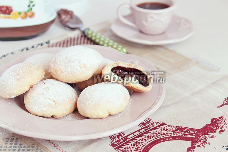 Фото Печенье с начинкой из Нутеллы