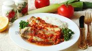 Фото рецепта Нототения в кисло-сладком соусе с луком-пореем
