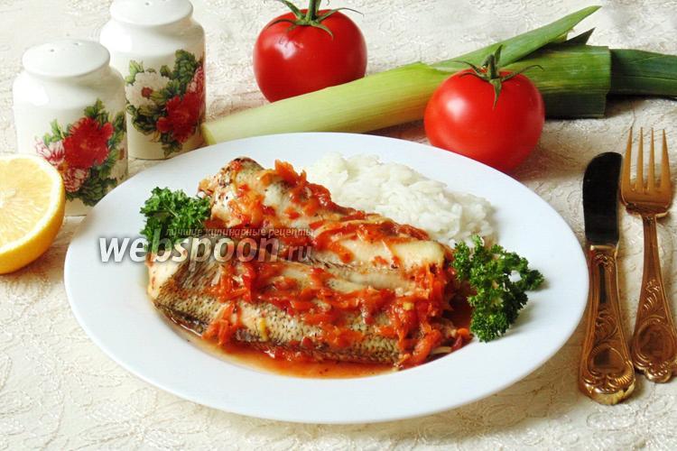 Фото Нототения в кисло-сладком соусе с луком-пореем
