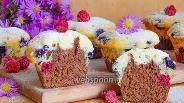 Фото рецепта Маффины с маскарпоне и ягодами