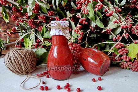 Соус из красной облепихи