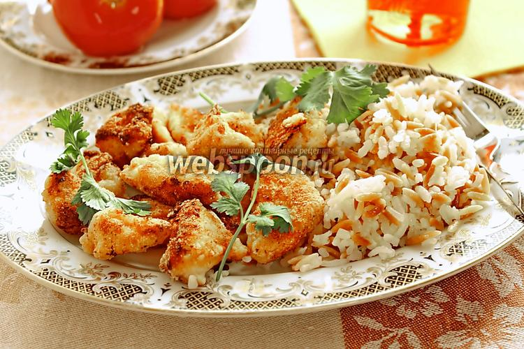 Фото Маринованные куриные наггетсы в хрустящей панировке