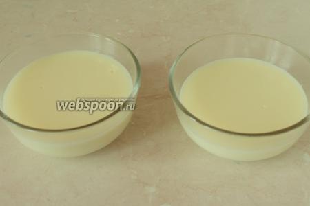 Загустевший пудинг быстро разлить по чашечкам, которые надо заранее поставить рядом с плитой. На поверхности пудинга образуется нелюбимая многими плёнка, её можно просто ложечкой снять, как сливки.