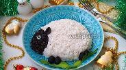 Фото рецепта Слоёный салат «Овечка»