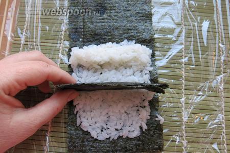 На рисовую основу выкладываем часть с авокадо.