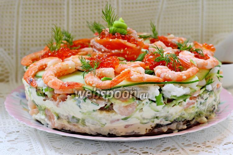 Фото Суши торт с креветками