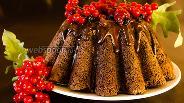 Фото рецепта Шоколадный кекс с пьяными ягодами