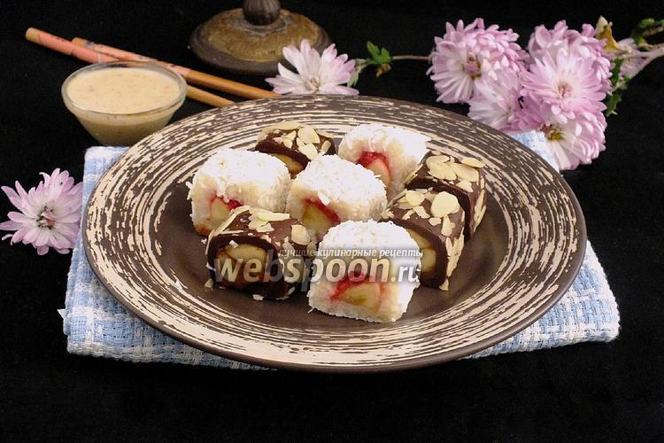 Фото Сладкий сет с ореховым соусом