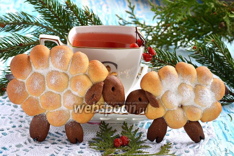 Фото Новогоднее печенье «Овечки»