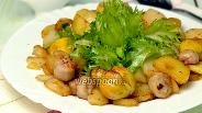 Фото рецепта Французский салат с каштанами