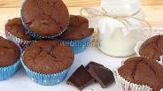 Фото рецепта Маффины шоколадные с апельсиновыми цукатами