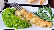 Фото рецепта Минтай запечённый с фейхоа, кориандром и сыром