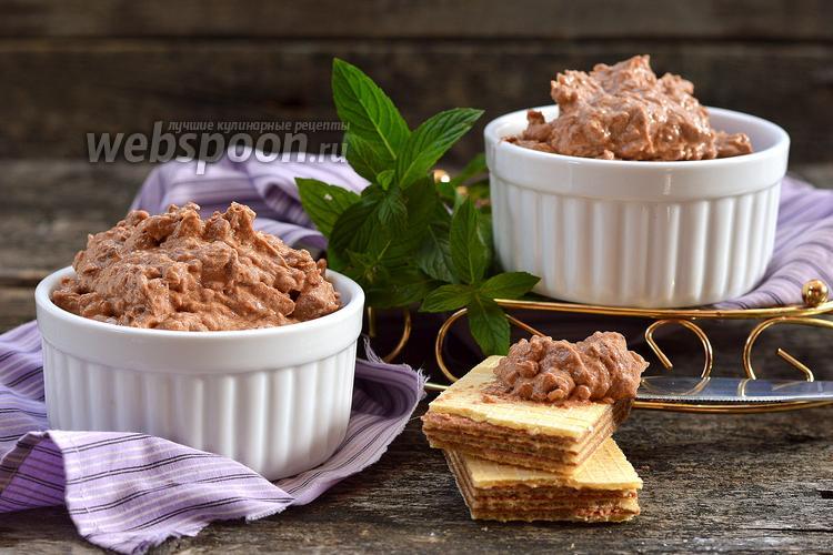 Фото Вафельный крем с шоколадной пастой