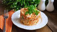 Фото рецепта Морковный салат с курицей, яблоком и ананасом