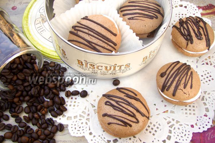 Фото Шоколадно-миндальное печенье с меренгой