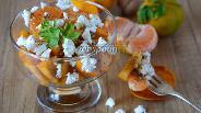 Фото рецепта Салат с хурмой и козьим сыром