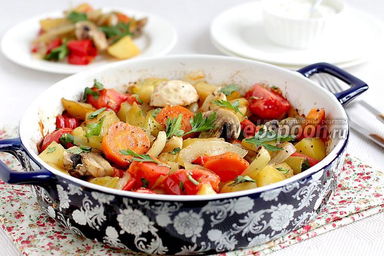 Фото Запечённые в духовке овощи